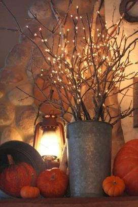 Easy But Inspiring Outdoor Fall Decoration Ideas 54