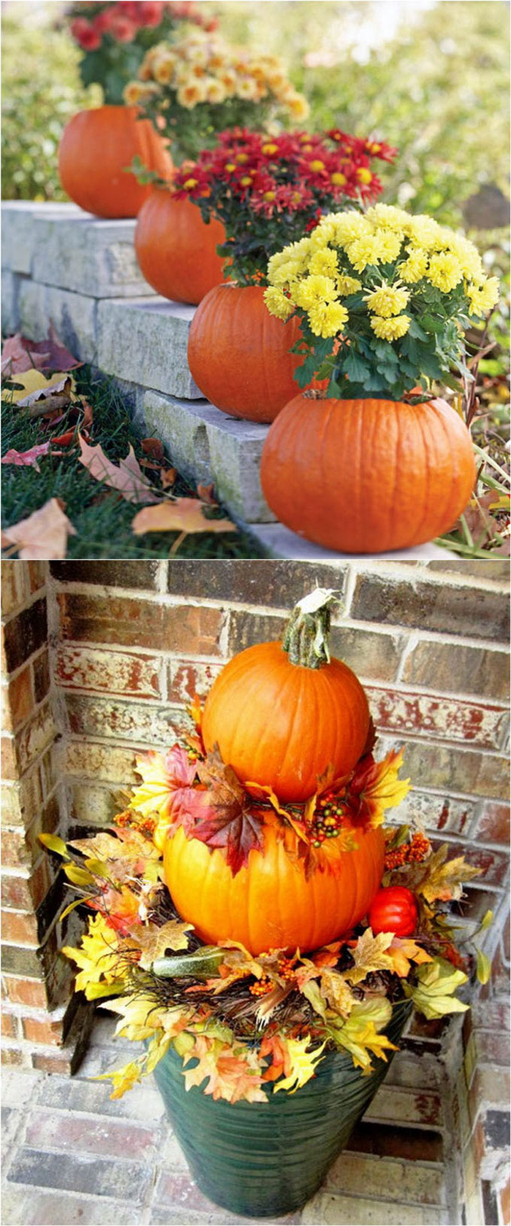 Easy But Inspiring Outdoor Fall Decoration Ideas 56
