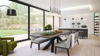 Inspiring Contemporary Style Decor Ideas For Dining Room 43
