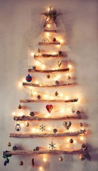 Space Saving Christmas Tree Ideas Suitable For Small Rooms 21