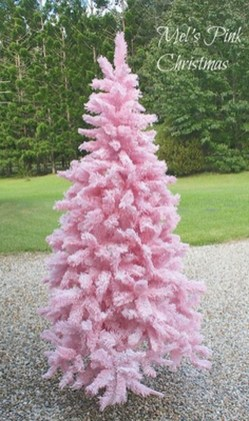 Cute And Adorable Pink Christmas Tree Decoration Ideas 25
