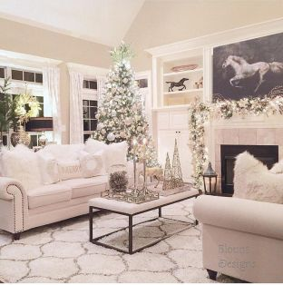 Elegant White Vintage Christmas Decoration Ideas 86