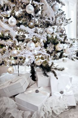 Elegant White Vintage Christmas Decoration Ideas 99