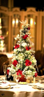 Elegant And Beautiful Tabletop Christmas Tree Centerpieces Ideas 41