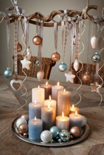 Inspiring Modern Rustic Christmas Centerpieces Ideas With Candles 12