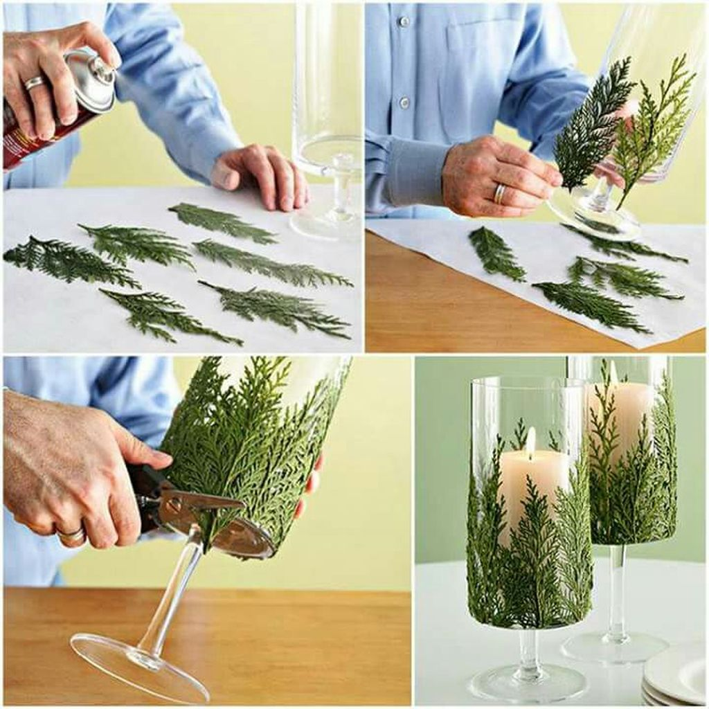 Inspiring Modern Rustic Christmas Centerpieces Ideas With Candles 41