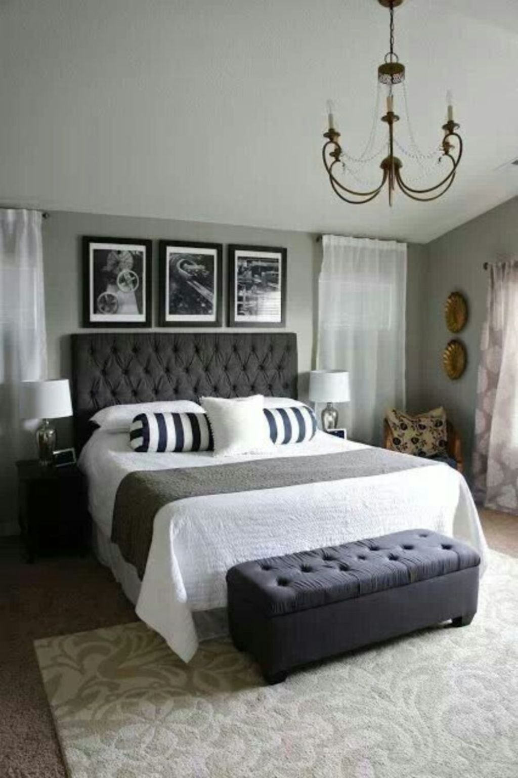 Modern And Elegant White Master Bedroom Decoration Ideas 89