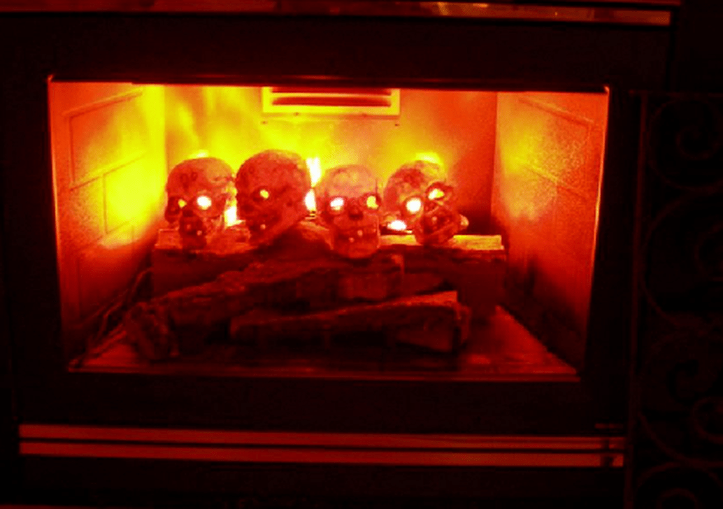 Scary But Classy Halloween Fireplace Decoration Ideas 03
