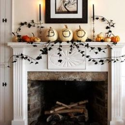 Scary But Classy Halloween Fireplace Decoration Ideas 41