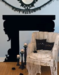 Scary But Classy Halloween Fireplace Decoration Ideas 72