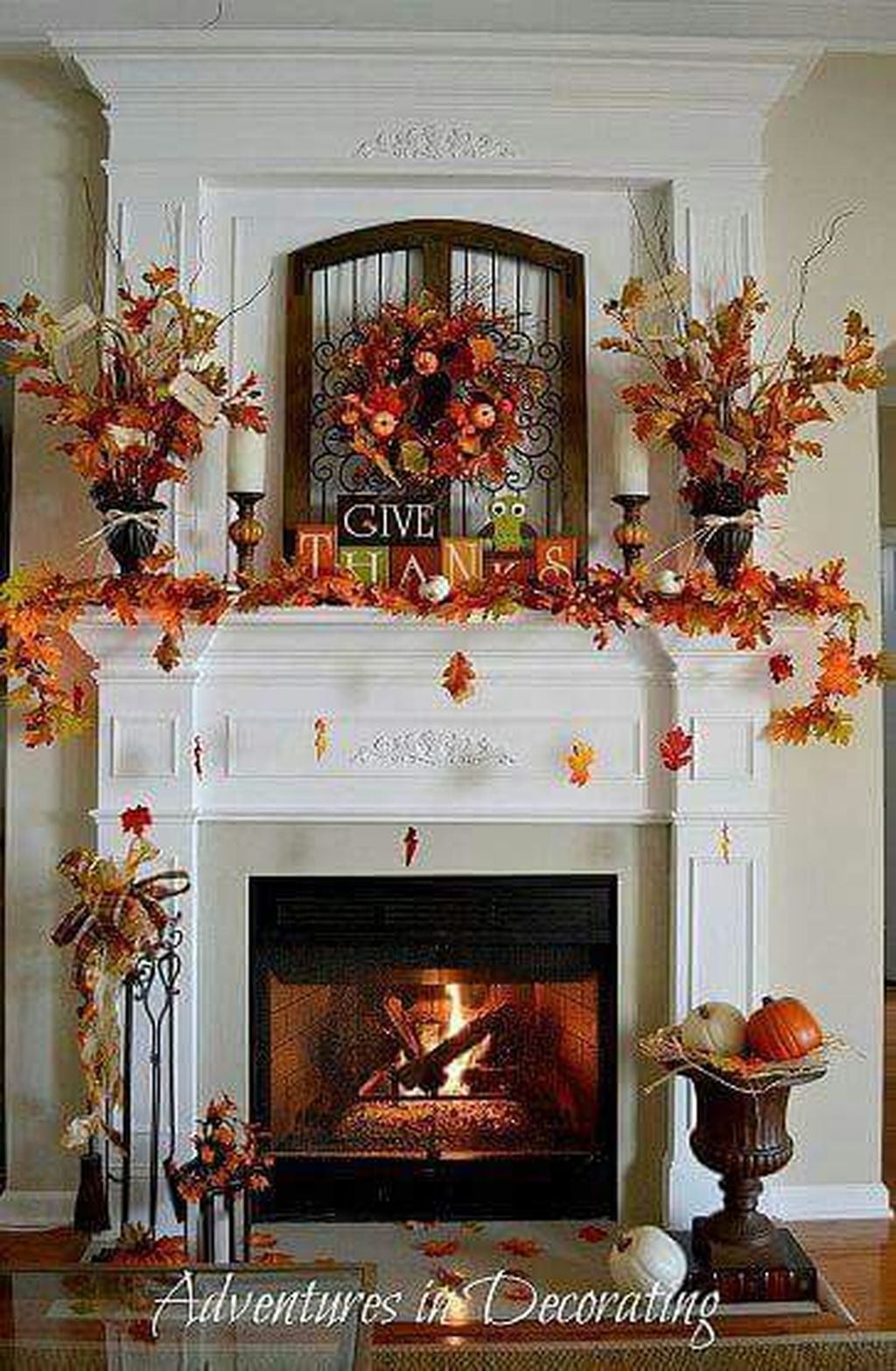 Scary But Classy Halloween Fireplace Decoration Ideas 74