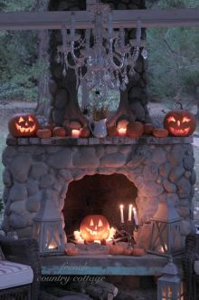 Scary But Classy Halloween Fireplace Decoration Ideas 80
