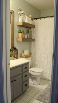 Simple And Clean Apartment Bathroom Decoration Ideas Suitable For You Who Living With Roomates 30