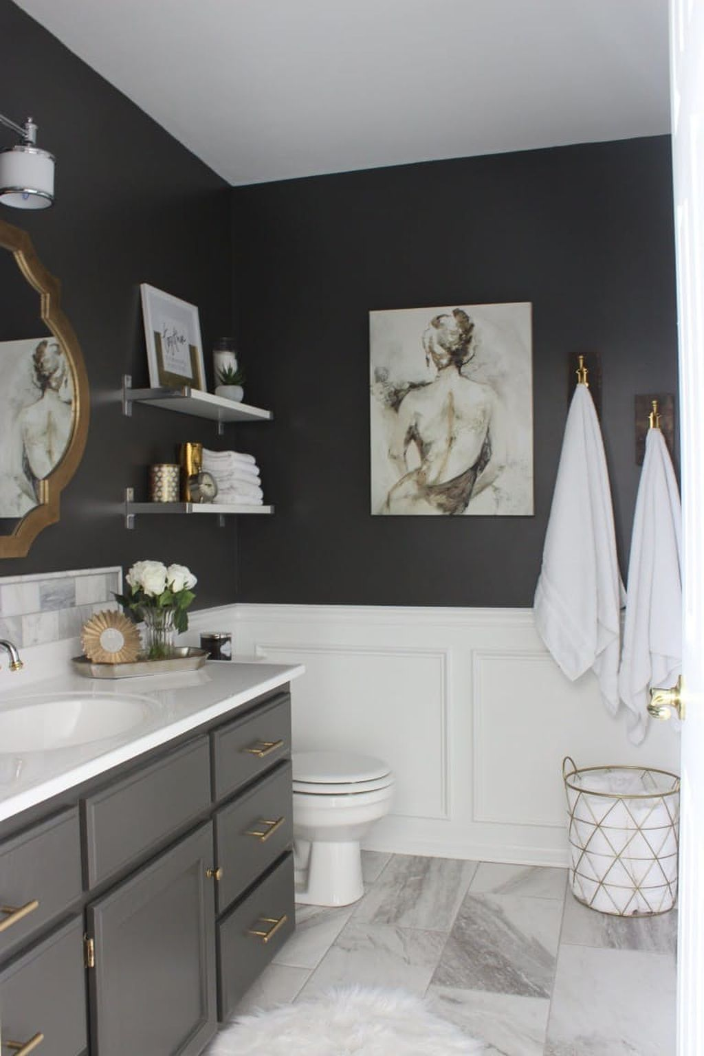 Simple And Clean Apartment Bathroom Decoration Ideas Suitable For You Who Living With Roomates 47