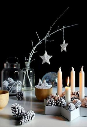 Stunning White Vintage Christmas Decoration Ideas 42