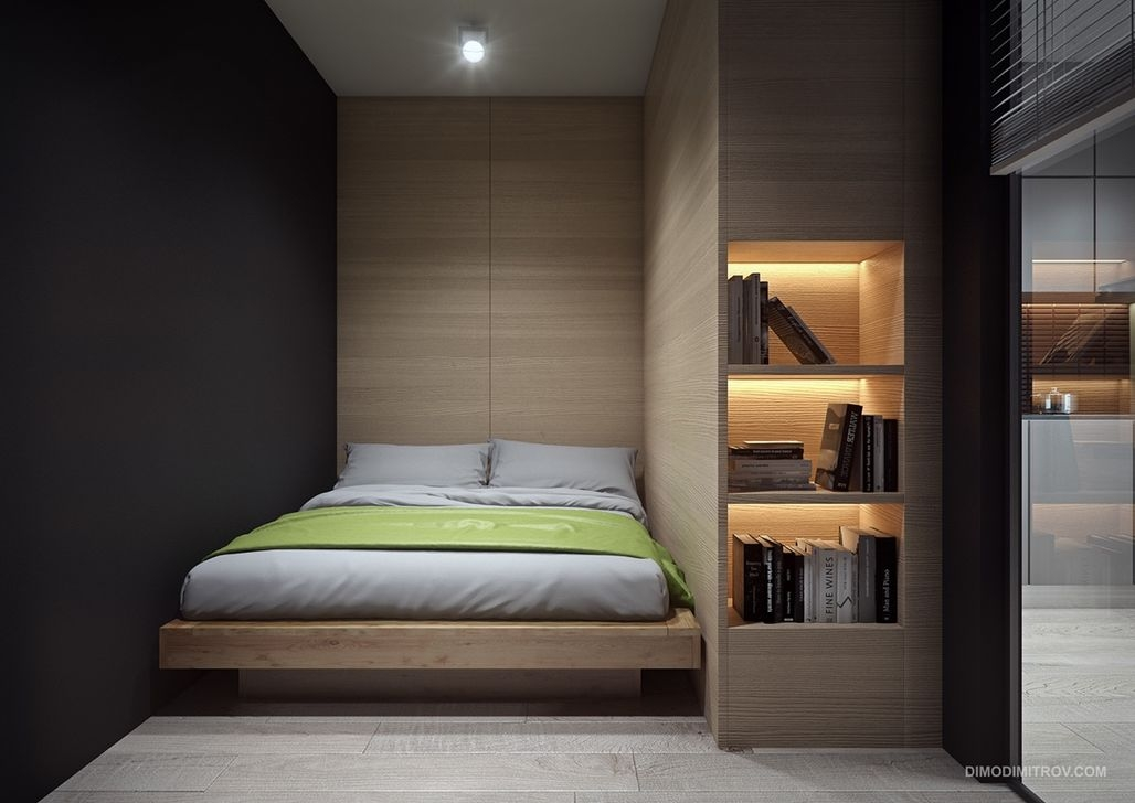 Totally Brilliant Bedroom Design Ideas For Small Apartment 37