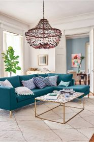 Totally Outstanding Sectional Sofa Decoration Ideas With Lamps 12