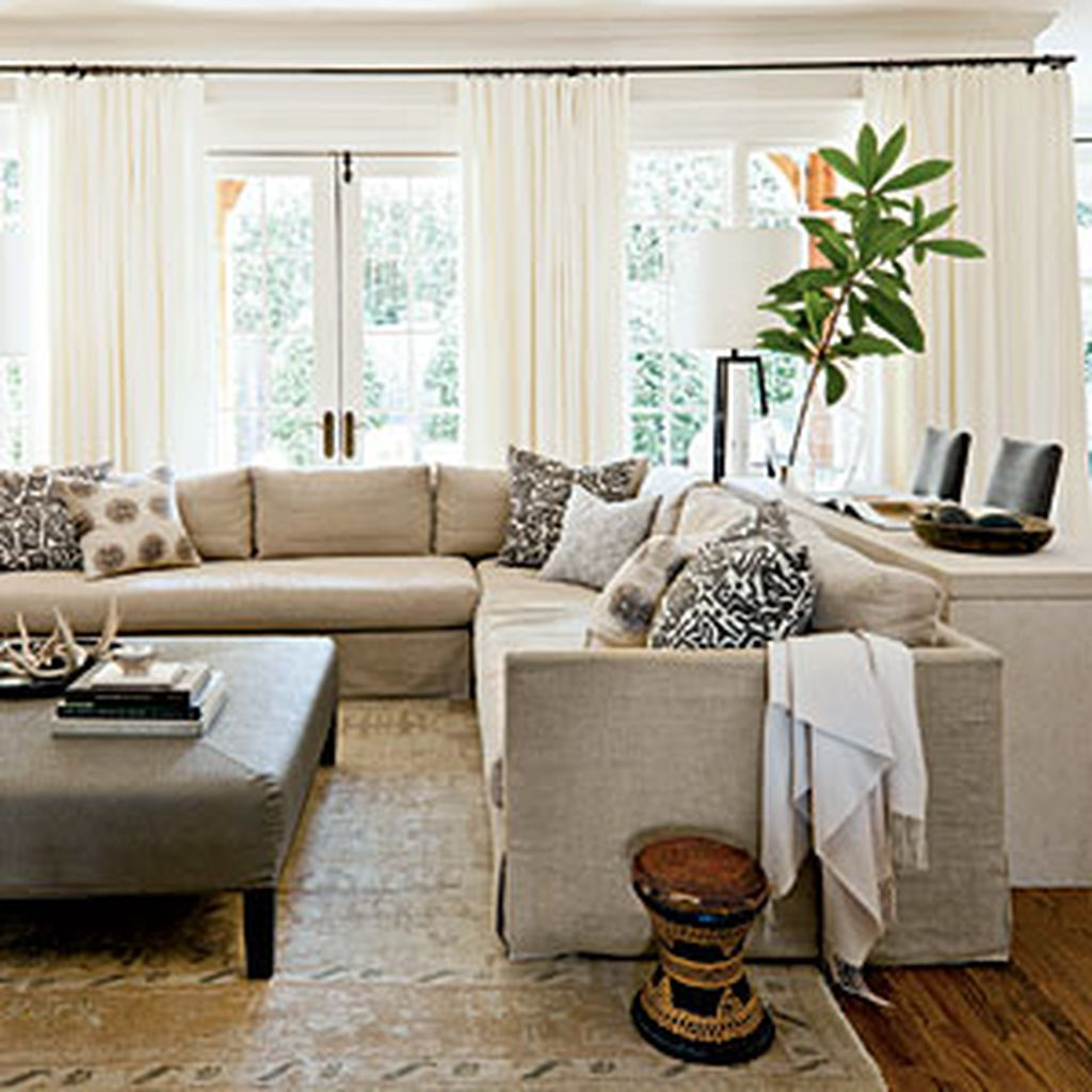 Totally Outstanding Sectional Sofa Decoration Ideas With Lamps 42
