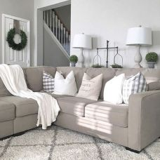 Totally Outstanding Sectional Sofa Decoration Ideas With Lamps 51