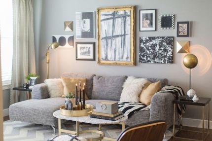 Totally Outstanding Sectional Sofa Decoration Ideas With Lamps 61