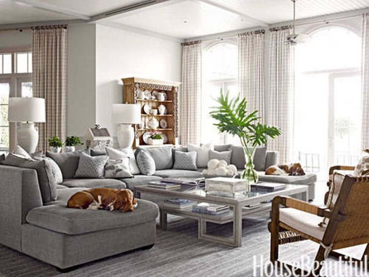 Totally Outstanding Sectional Sofa Decoration Ideas With Lamps 65