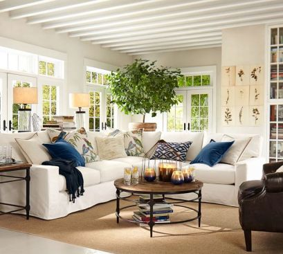 Totally Outstanding Sectional Sofa Decoration Ideas With Lamps 75