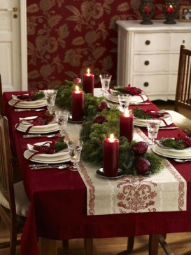 Elegant Table Christmas Decoration Ideas 15