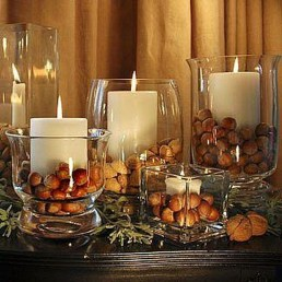Romantic Christmas Centerpieces Ideas With Candles 02