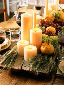 Romantic Christmas Centerpieces Ideas With Candles 05