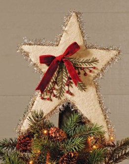 Unique But Inspiring Christmas Tree Toppers Decoration Ideas 17