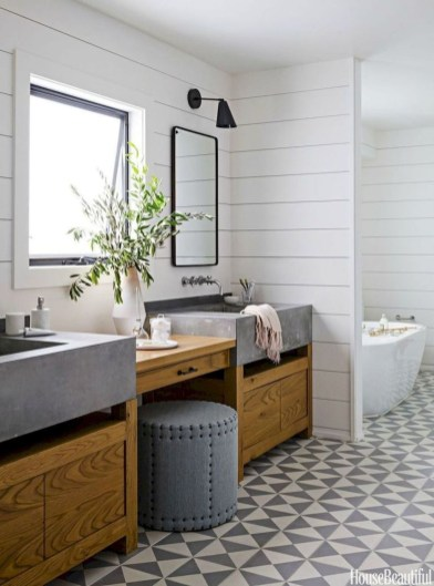 Cool Rustic Modern Bathroom Remodel Ideas 38
