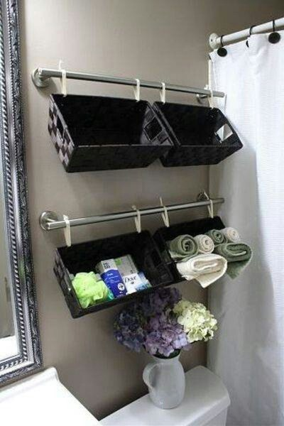 Creative Practical Bathroom Storage Design Ideas32