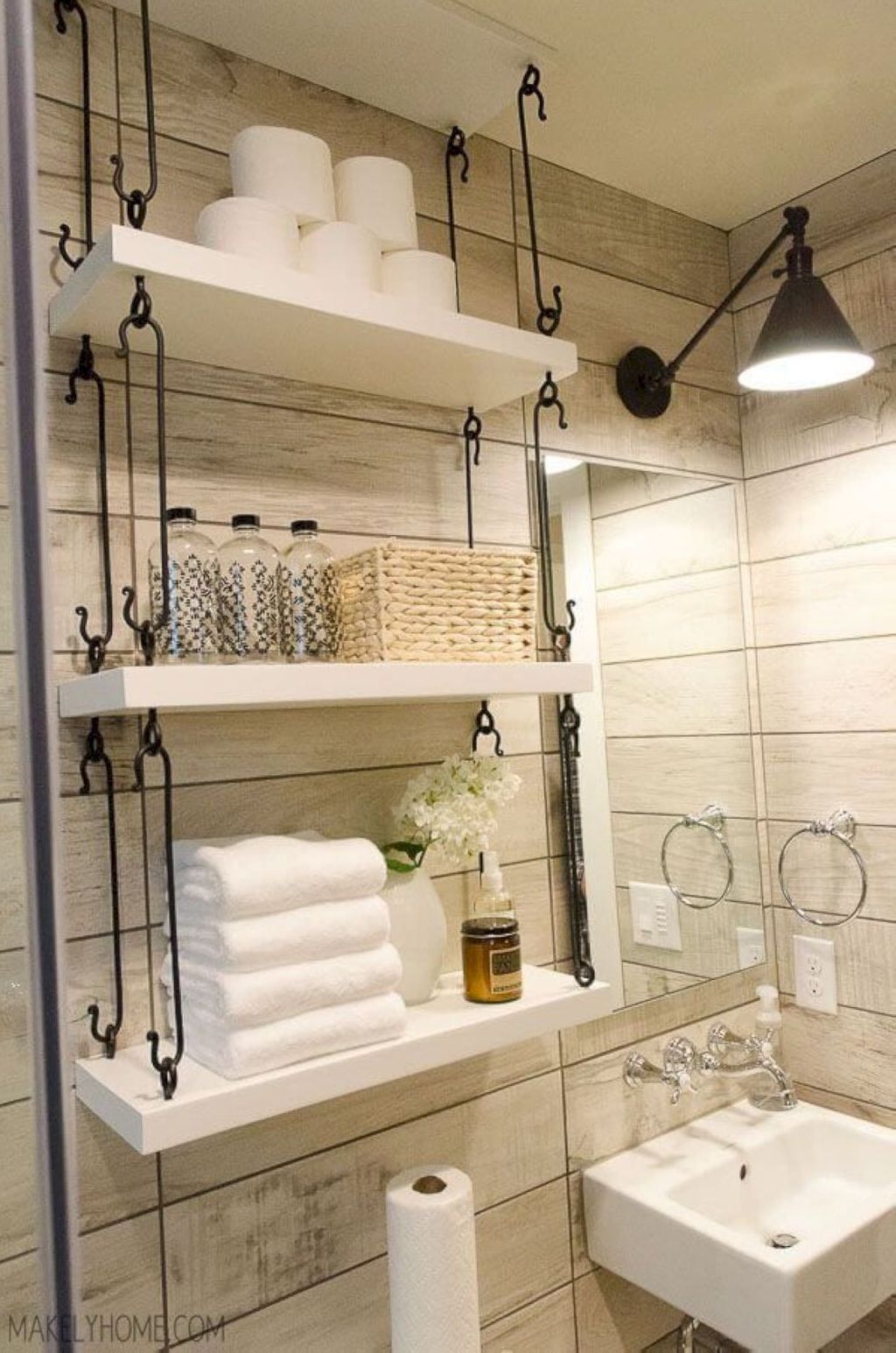 Creative Practical Bathroom Storage Design Ideas40