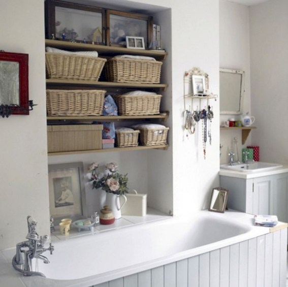 Creative Practical Bathroom Storage Design Ideas41
