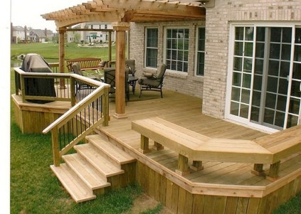 Gorgeous Wooden Deck Porch Design Ideas 05