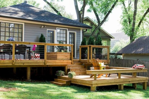 Gorgeous Wooden Deck Porch Design Ideas 38