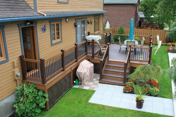 Gorgeous Wooden Deck Porch Design Ideas 45