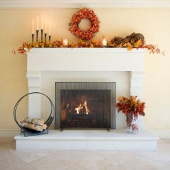 Inspiring Rustic Fall Mantel Decoration Ideas 02