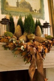 Inspiring Rustic Fall Mantel Decoration Ideas 31