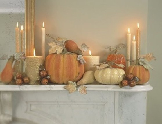 Inspiring Rustic Fall Mantel Decoration Ideas 37