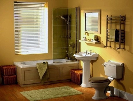 Lovely Sunny Yellow Bathroom Design Ideas 15