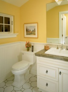 Lovely Sunny Yellow Bathroom Design Ideas 20