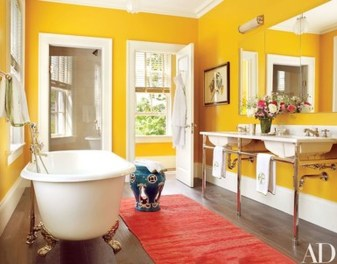 Lovely Sunny Yellow Bathroom Design Ideas 26
