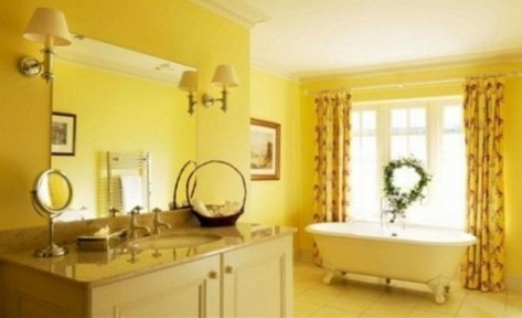 Lovely Sunny Yellow Bathroom Design Ideas 32