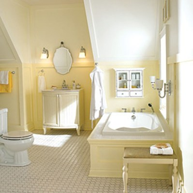 Lovely Sunny Yellow Bathroom Design Ideas 39