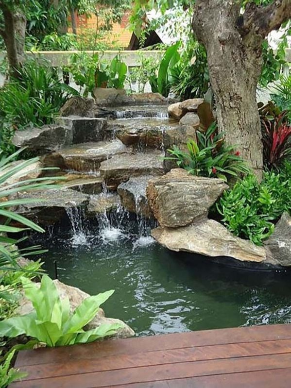 Totally Inspiring Backyard Waterfall Ideas On A Budget 42