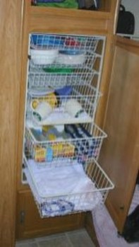 Best Travel Trailer Organization Rv Storage Hacks Remodel Ideas 47