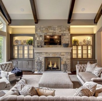 Best Winter Living Room Decoration Ideas 53