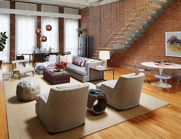Elegant Loft Style Living Room Design Ideas For Winter 06
