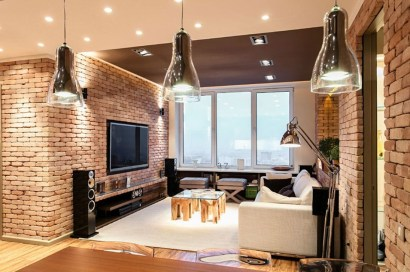 Elegant Loft Style Living Room Design Ideas For Winter 29